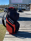 TaylorMade Red and Black Cart Bag 15 Way Divider 11 Pocket w/Bag Cover