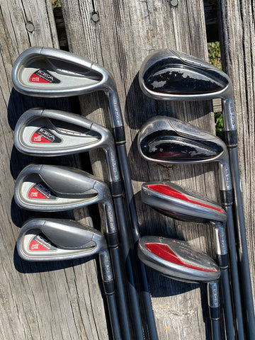 Adams Golf Idea A2OS Hybrid Iron Set Grafalloy Regular Flex Shaft Karma 360 Grips
