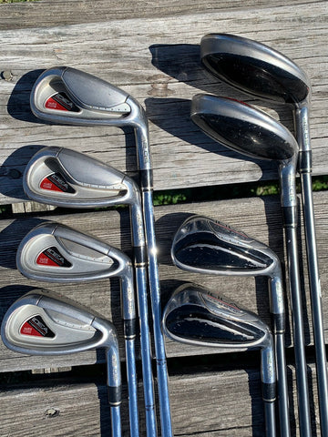 Adams Golf Idea A2OS Hybrid Iron Set 3-PW Regular Flex Shafts Karma 360 Grips