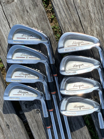 Ben Hogan Edge Forged Iron Set 3-EW Apex Stiff Shafts Golf Pride Tour Wrap Grips
