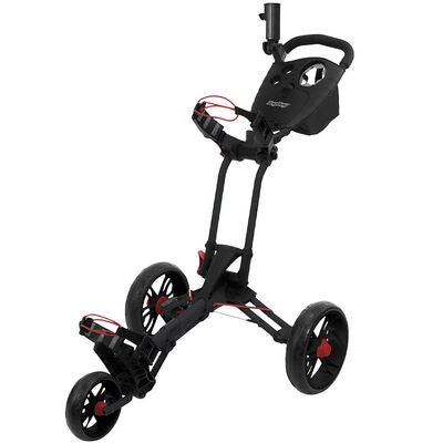 BagBoy Spartan XL Black and Red 3 Wheel Push Cart