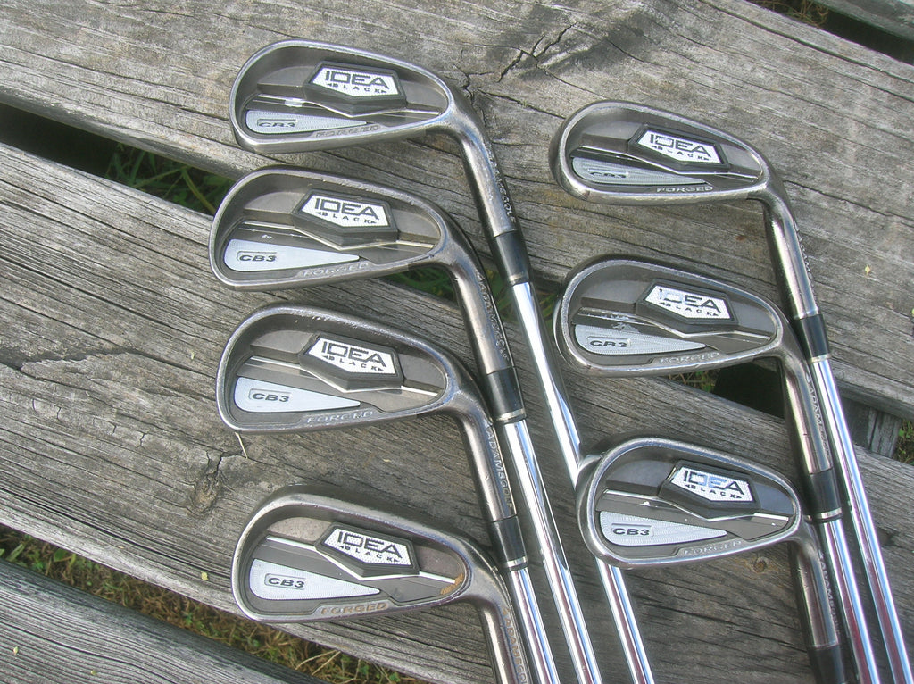 Adams Idea Black CB3 Forged Iron Set 4-PW KBS Tour 90 R Flex Shafts MCC+4 Grips
