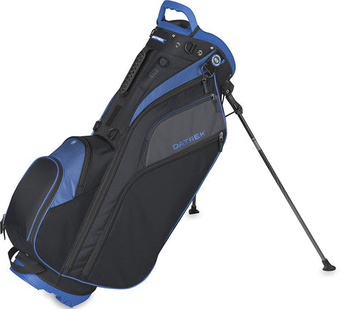 Datrek Go Lite Hybrid Stand Bag Black Slate Royal 14 Way Top Full Length IDS