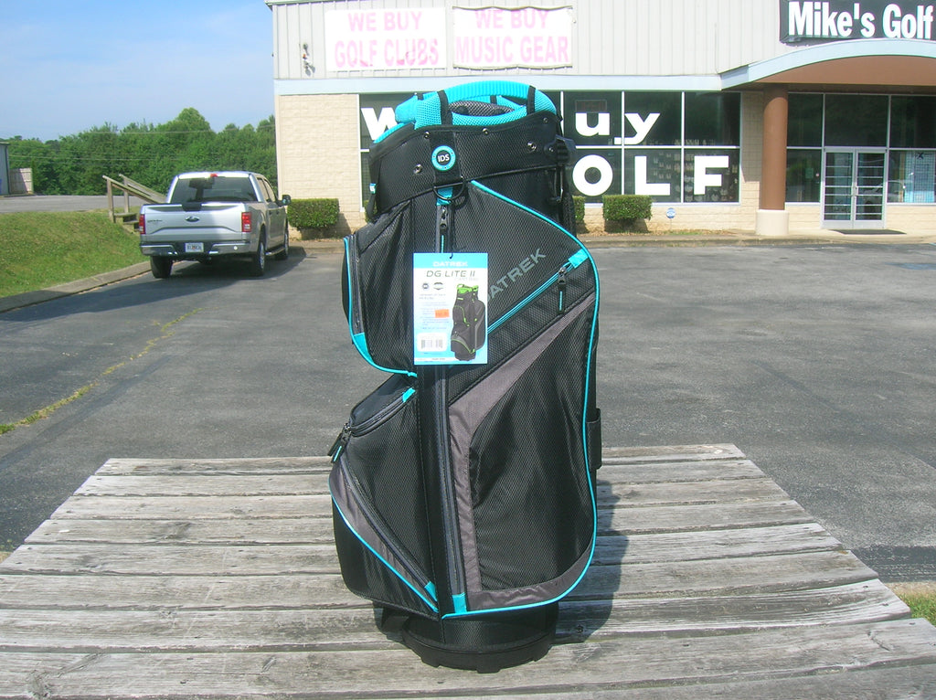 Datrek DG Lite II Cart Bag Black Charcoal Turquoise 15 Way Divider Top