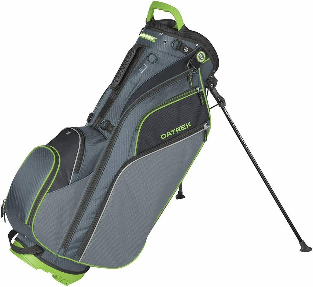 Datrek Go Lite Hybrid Stand Bag Charcoal Lime Black 14 Way Top Full Length IDS