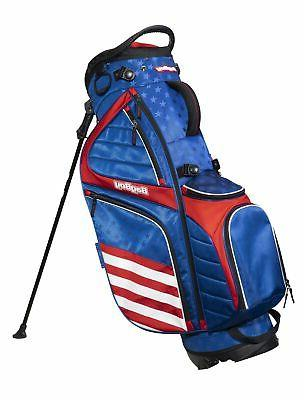BagBoy HB14 USA Hybrid Stand Bag Red White and Blue 14 Way Divider