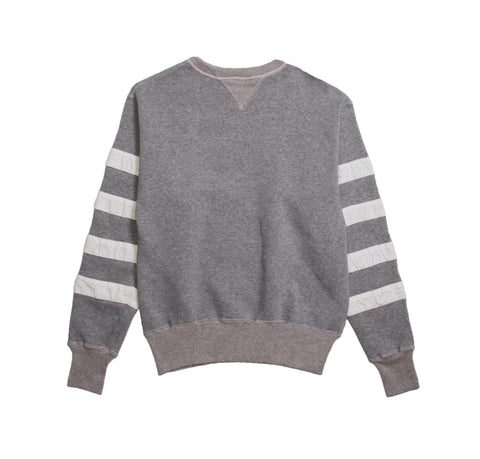 Stripped Sleeve Crew Sweat