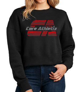 Cropped Bling Crew neck Sweat Shirt