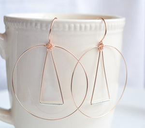 Elemental Rose Gold Earrings - Cloverleaf Jewelry