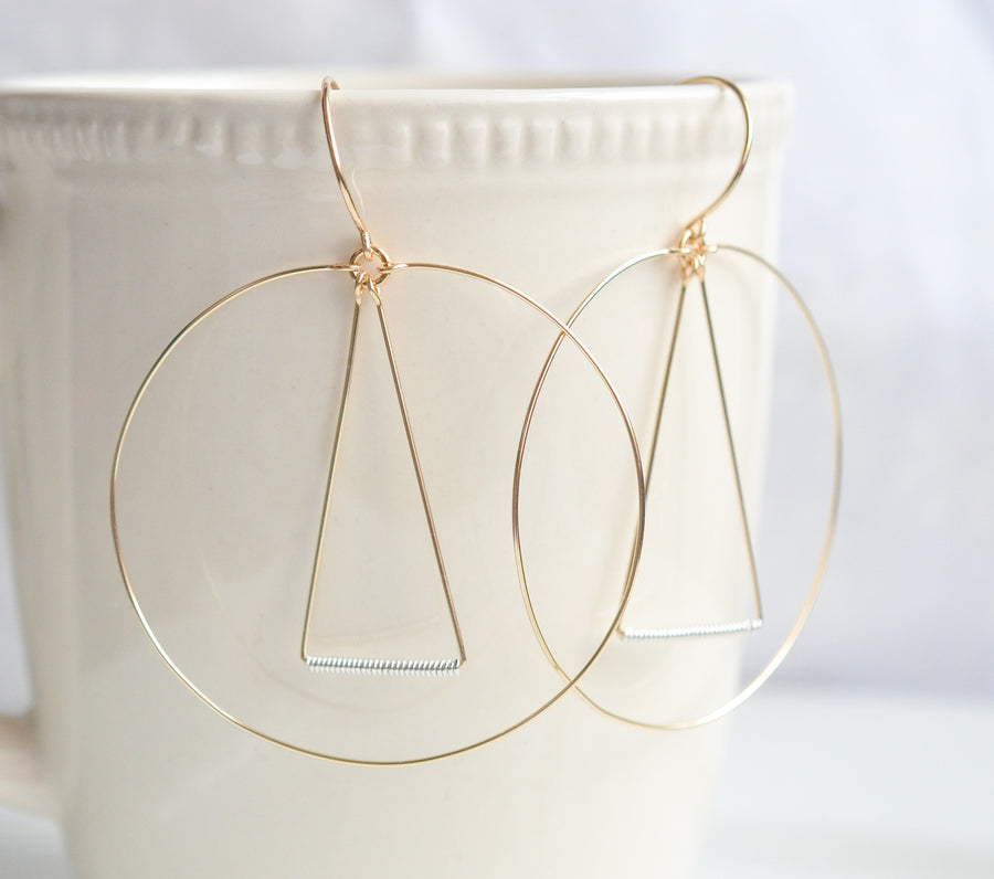 Elemental Gold Earrings