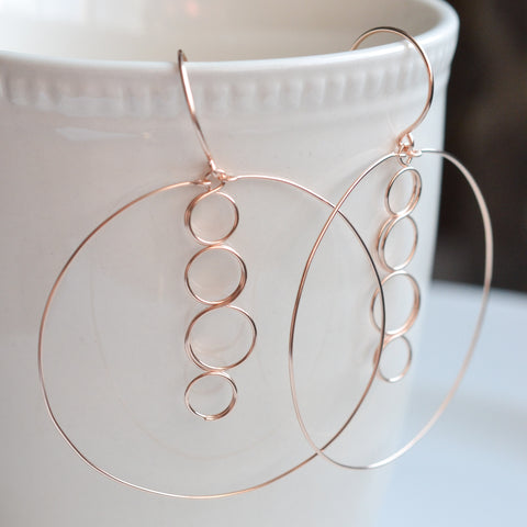 Caprice Rose Gold Earrings - Cloverleaf Jewelry
