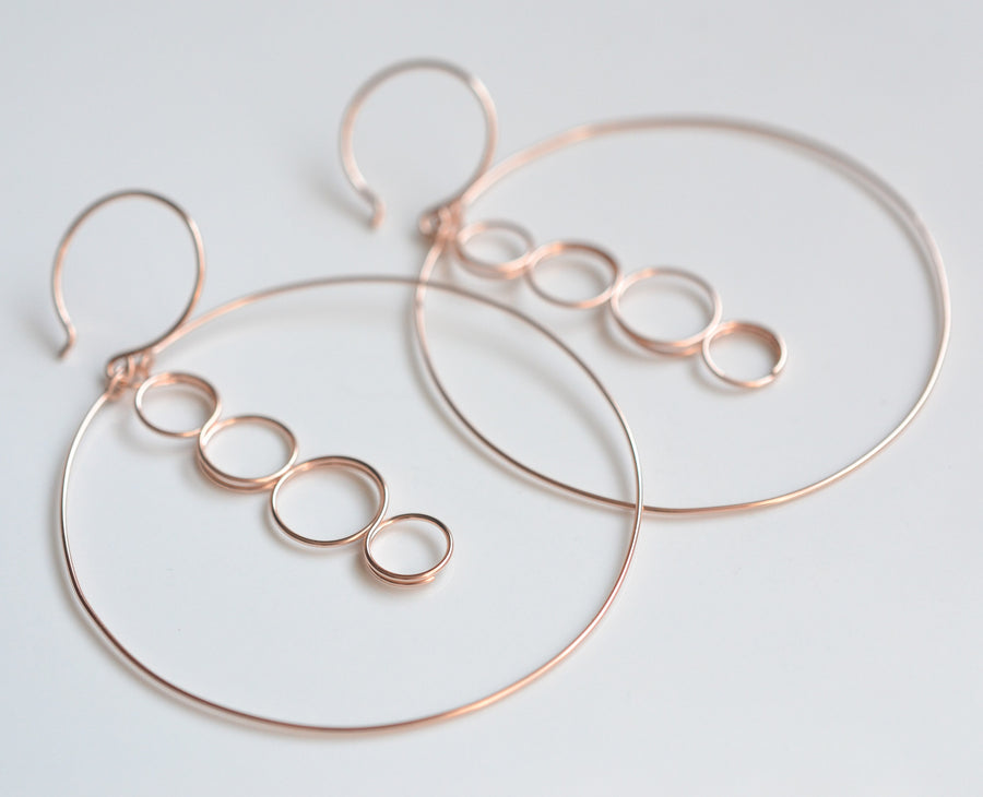 Caprice Rose Gold Earrings