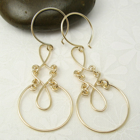 Allure Gold Earrings - Cloverleaf Jewelry