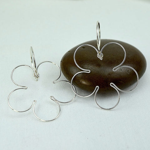 Blossom Silver Earrings, Small - Cloverleaf Jewelry