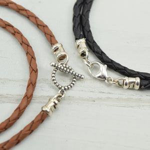 XOXO Silver Charm Leather Wrap Bracelet - Cloverleaf Jewelry