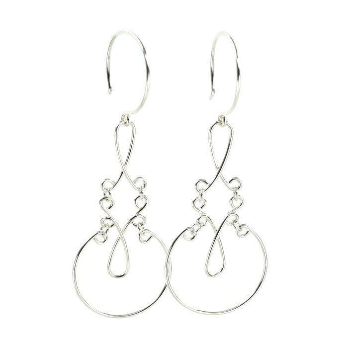 Allure Silver Earrings - Cloverleaf Jewelry