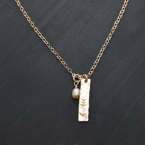 Arrow Rose Gold Charm Necklace