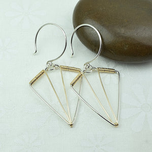 Arrowhead Silver and Gold Earrings