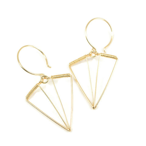 Arrowhead Gold Earrings - Cloverleaf Jewelry
