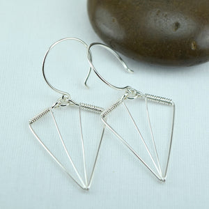 Arrowhead Silver Earrings