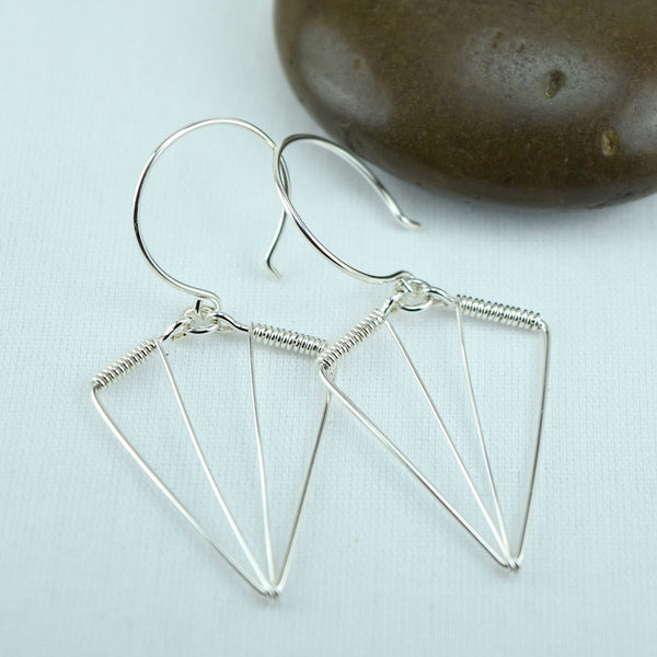 Arrowhead Silver Earrings - Cloverleaf Jewelry