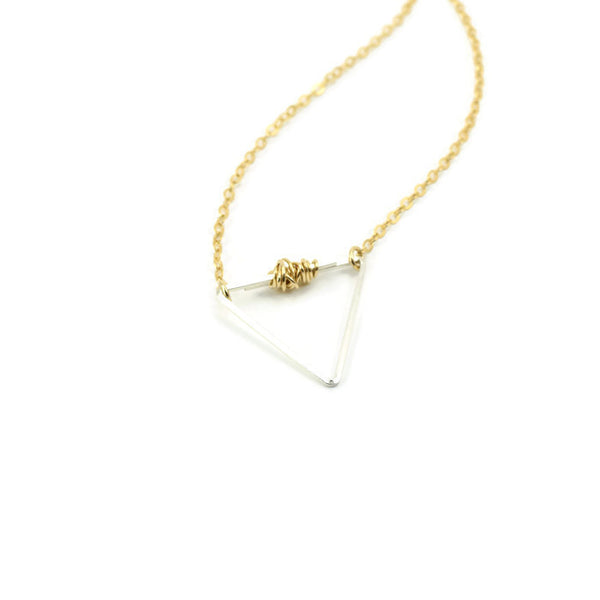 Balance Gold and Silver Necklace - Cloverleaf Jewelry