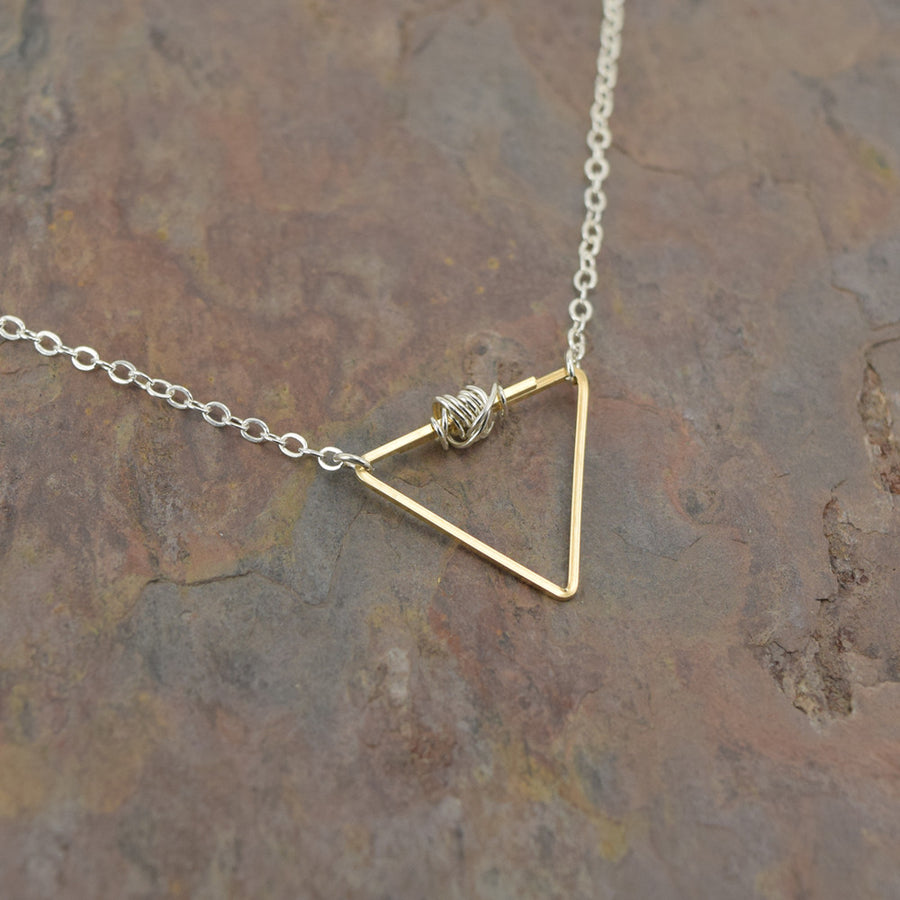 Balance Silver and Gold Necklace