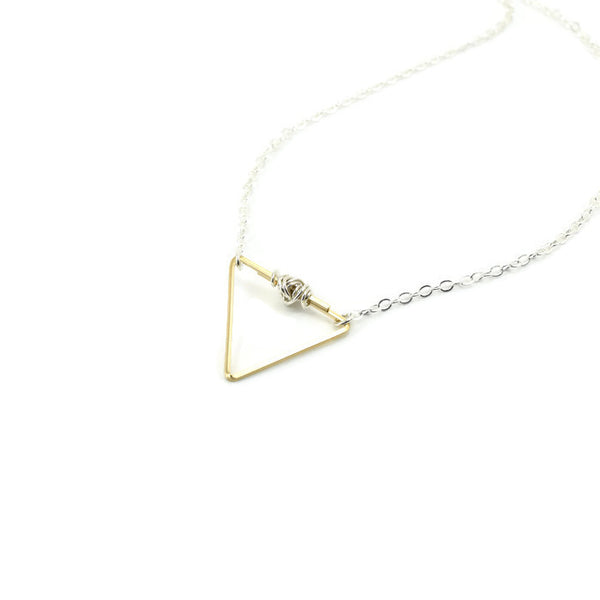 Balance Silver and Gold Necklace - Cloverleaf Jewelry