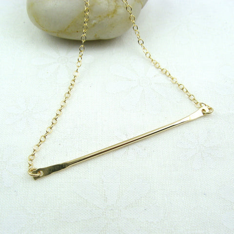 Horizon Gold Bar Necklace - Cloverleaf Jewelry
