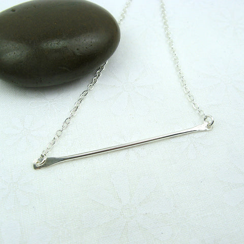 Horizon Silver Bar Necklace - Cloverleaf Jewelry