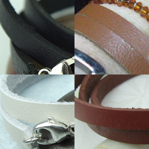 Halo Circle Leather Wrap Bracelet