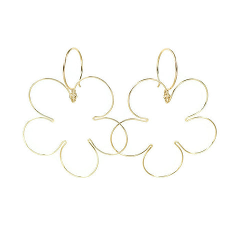 Blossom Gold Earrings, Large - Cloverleaf Jewelry