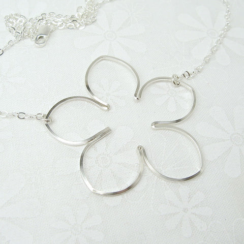Blossom Silver Necklace - Cloverleaf Jewelry