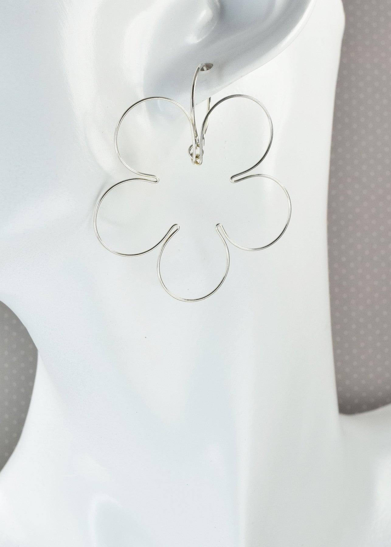 Blossom Silver Earrings, Large - Cloverleaf Jewelry