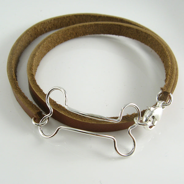 Bones Leather Wrap Bracelet - Cloverleaf Jewelry
