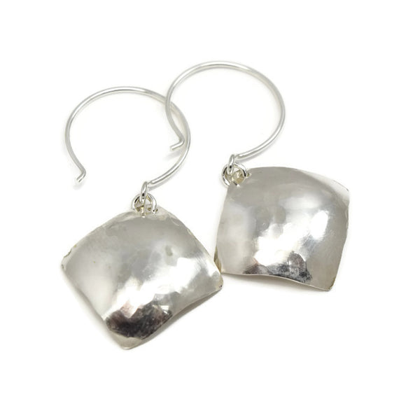 Cadence Silver Earrings, Diamond-Shaped - Cloverleaf Jewelry