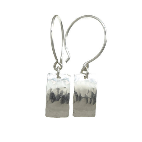 Cadence Silver Earrings, Rectangle