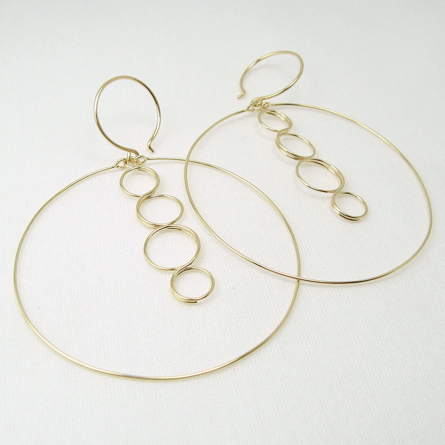 Caprice Gold Earrings