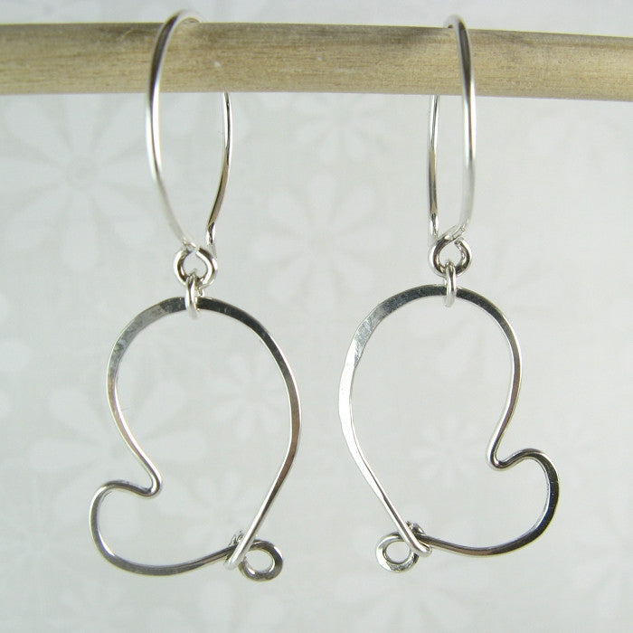Cherish Silver Heart Earrings