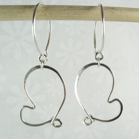 Cherish Silver Heart Earrings - Cloverleaf Jewelry