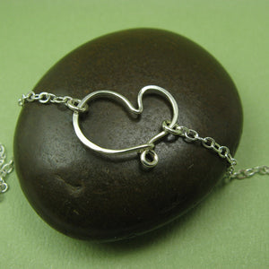 Cherish Silver Heart Anklet