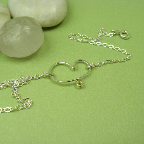Cherish Silver Heart Anklet - Cloverleaf Jewelry