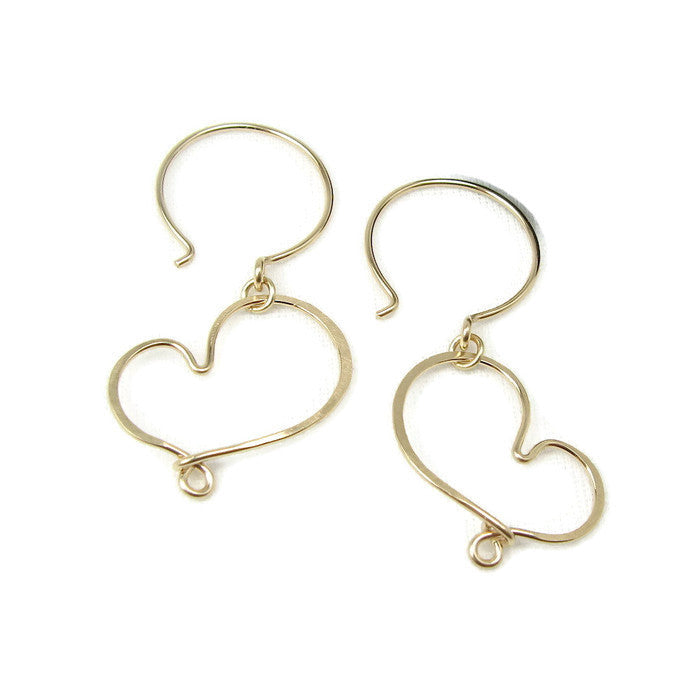 Cherish Gold Heart Earrings - Cloverleaf Jewelry