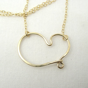 Cherish Gold Heart Necklace - Cloverleaf Jewelry