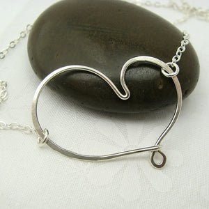 Cherish Silver Heart Necklace