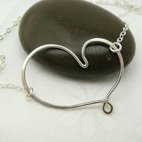 Cherish Silver Heart Necklace - Cloverleaf Jewelry
