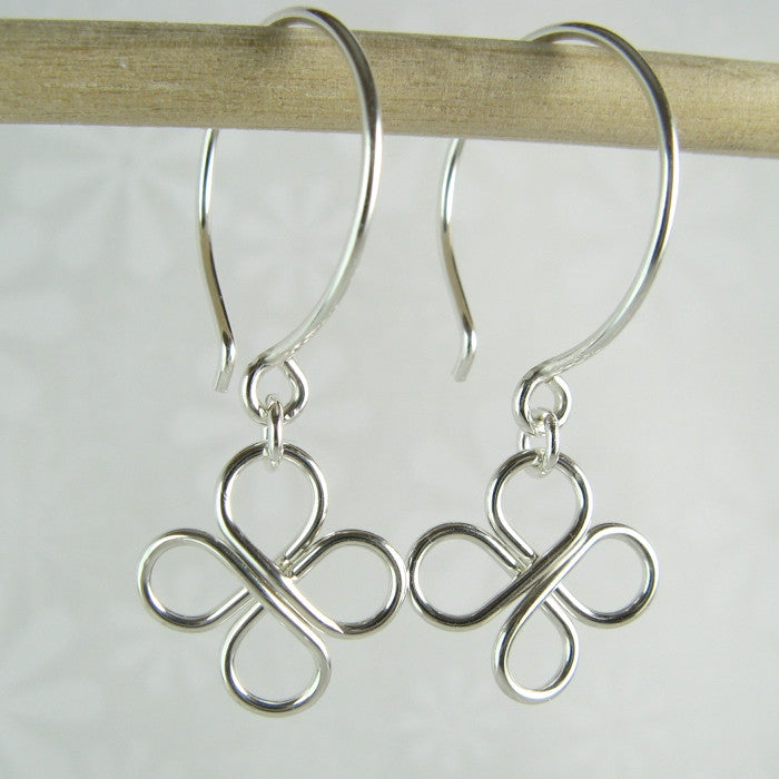 Clovers Silver Earrings