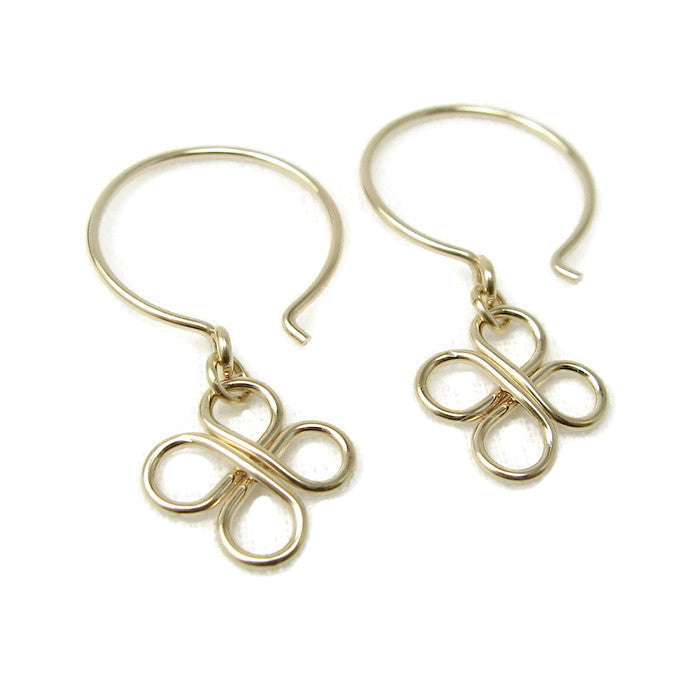 Clovers Gold Earrings