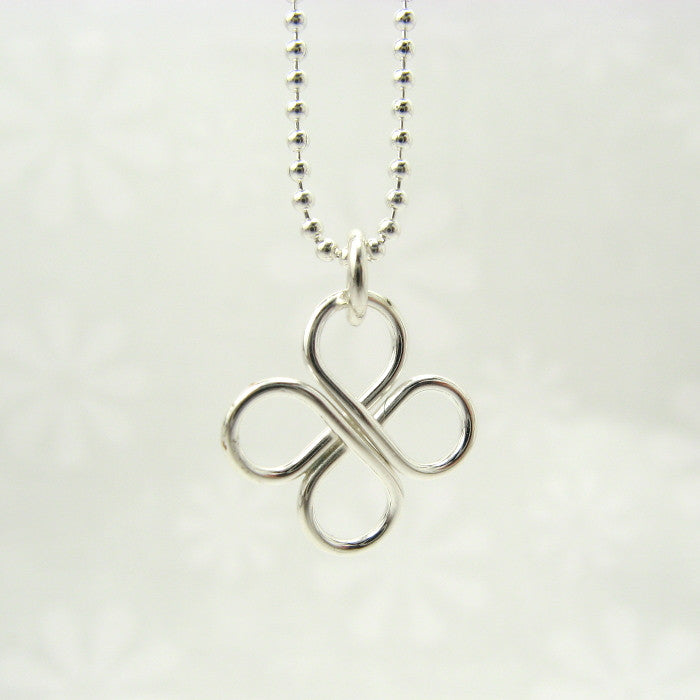 Clover Silver Necklace