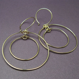 Concentric Gold Hoop Earrings